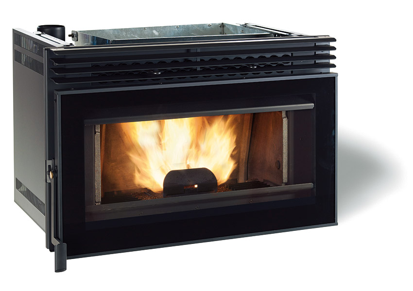 Caminetto inserto a pellet extraflame mod comfort p80 - Insert a granule ...