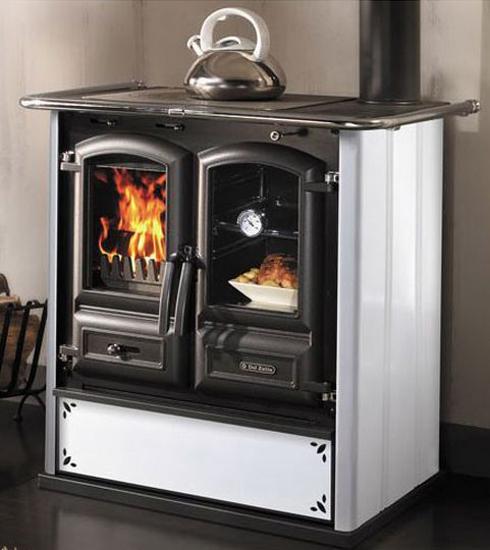 Cucina a legna in ghisa dal zotto mod regina 350 steel puntinato ebay - Cucina in ghisa ...