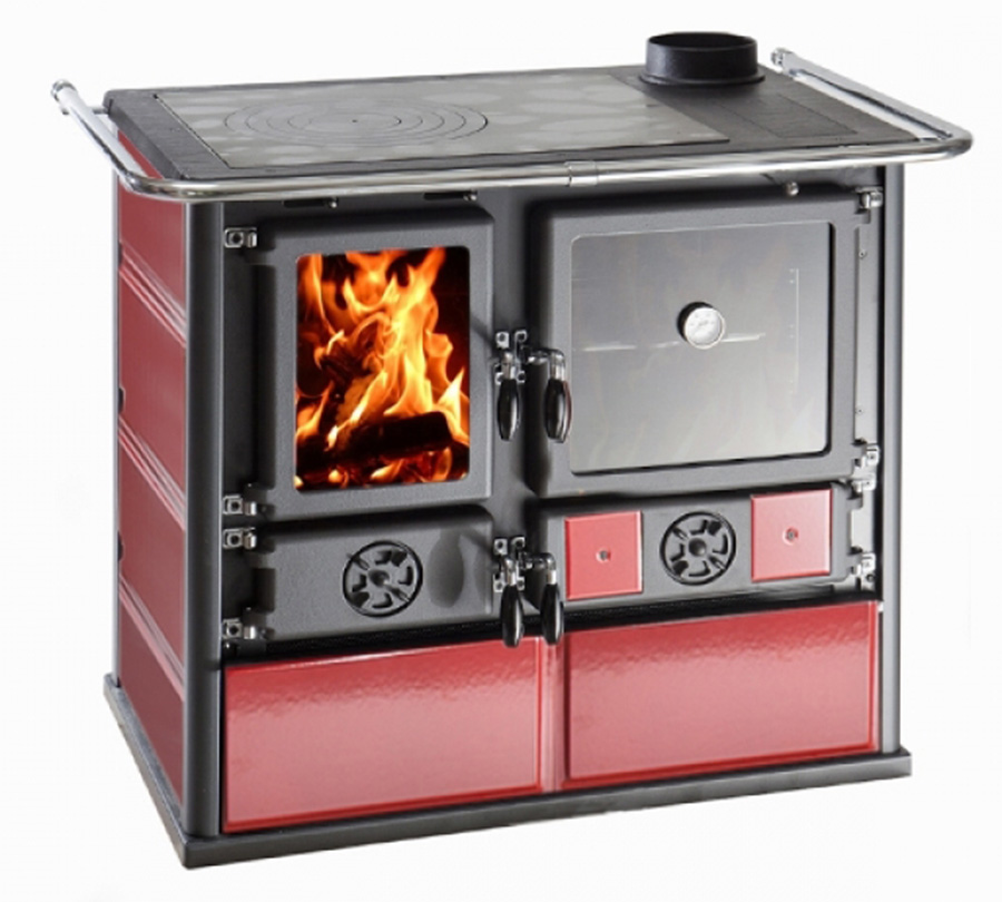 Stufa cucina a legna nordica rosa 6 5 kw ebay - Stufa economica a legna nordica ...
